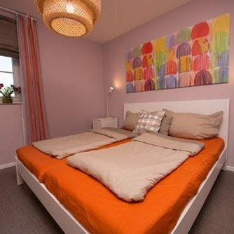 Ferienwohnung Kleiner Sundblick Lemkenhafen Schlafzimmer