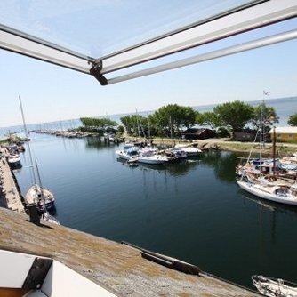 Ferienwohnung Hafenblick 6 Orth Außen