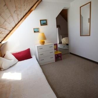 Ferienwohnung Hafenblick 6 Orth Schlafzimmer 2