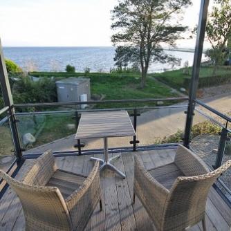 Ferienwohnung Lieblingsort(h) Orth Balkon