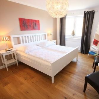 Ferienwohnung Lieblingsort(h) Orth Schlafzimmer