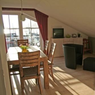 Ferienwohnung OR3-108 Orth Wohnzimmer