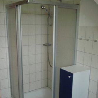 Ferienwohnung Kapitäns-Kajüte Petersdorf Badezimmer
