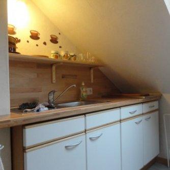Ferienwohnung Mansarde Petersdorf Küche