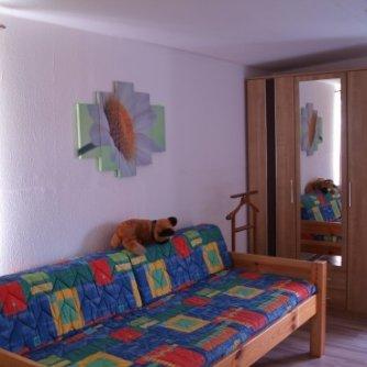 Ferienwohnung Mansarde Petersdorf Schlafzimmer