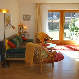 Ferienwohnung Windlicht Petersdorf Wohnzimmer