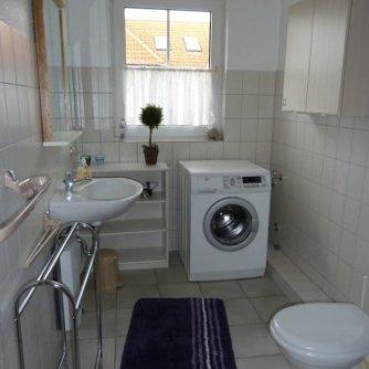 Ferienwohnung Schwalbennest Wenkendorf Badezimmer