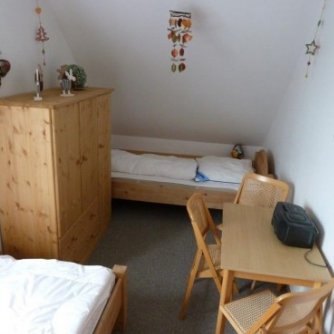 Ferienwohnung Schwalbennest Wenkendorf Schlafzimmer