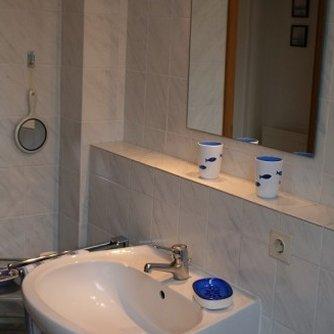 Ferienwohnung Sonne & Meer Wulfen Badezimmer