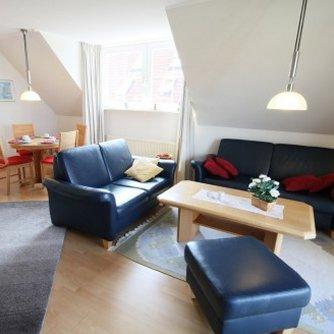 Ferienwohnung Sonne & Meer Wulfen Wohnzimmer